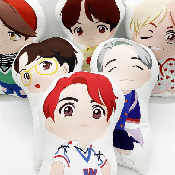 LU6906 BTS Cartoon Plush Toy Pillow Doll