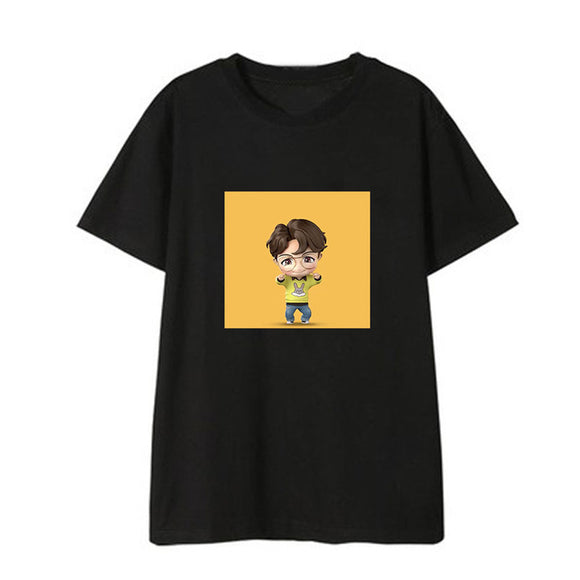 DX1305 BTS 2019 Cartoon Q T-shirt