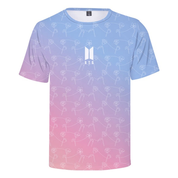 BTS Gradient Printed T-Shirt