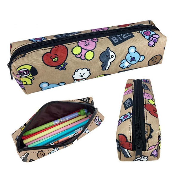 BT21 Laser Canvas Pencil Case