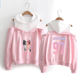 BTS Love Yourself Answer Bias Off-Shoulder Hoodie