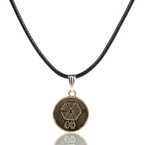 EXO Alloy Pendant Necklace