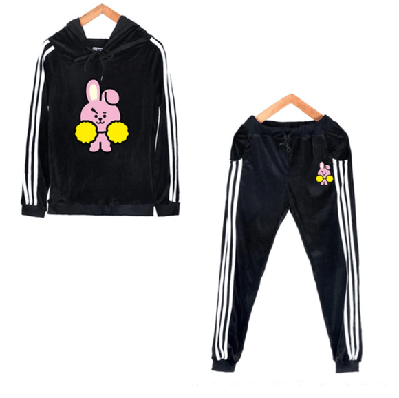 BT21 Bias Striped Hoodie and Trouser Set