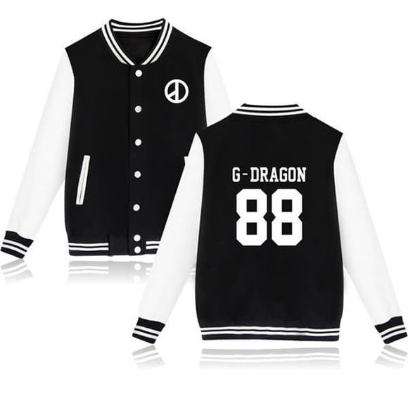 BigBang Striped Baseball Jacket