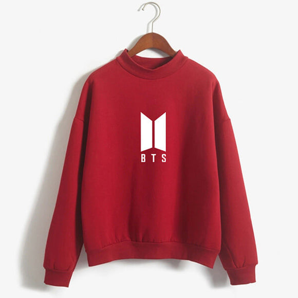 BTS Emblem Turtleneck Sweatshirt