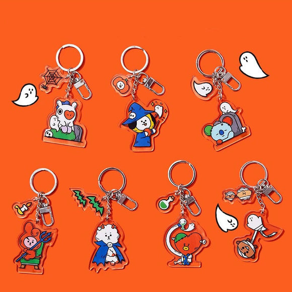 BTS x BT21 Halloween Theme Keychain