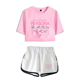 BTS Persona Crop Top & Shorts Set