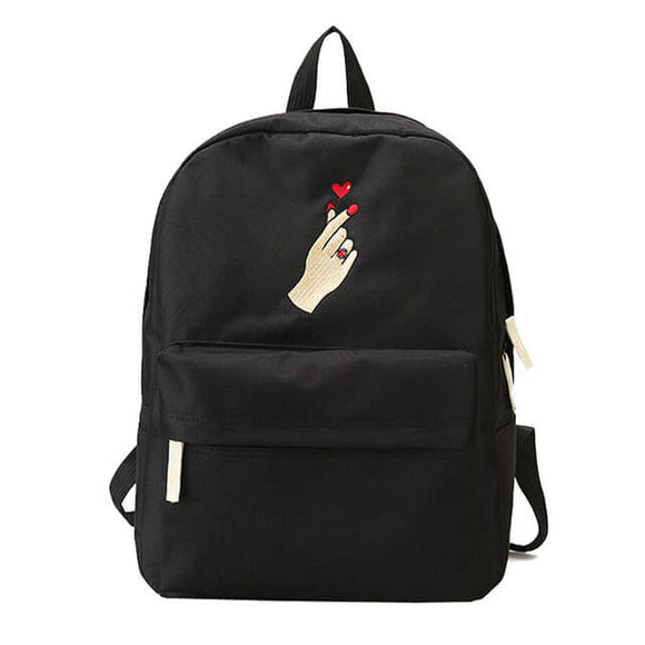 Finger Heart Korean Backpack