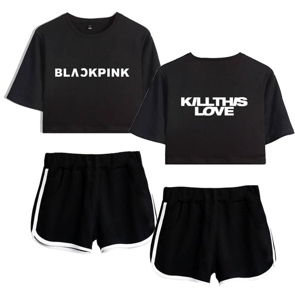BLACKPINK Kill This Love Crop Top and Short Set