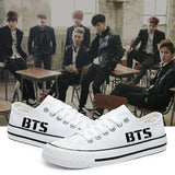 BTS Low Canvas White Sneaker