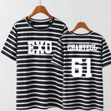 EXO Members Name Stripped T-Shirt