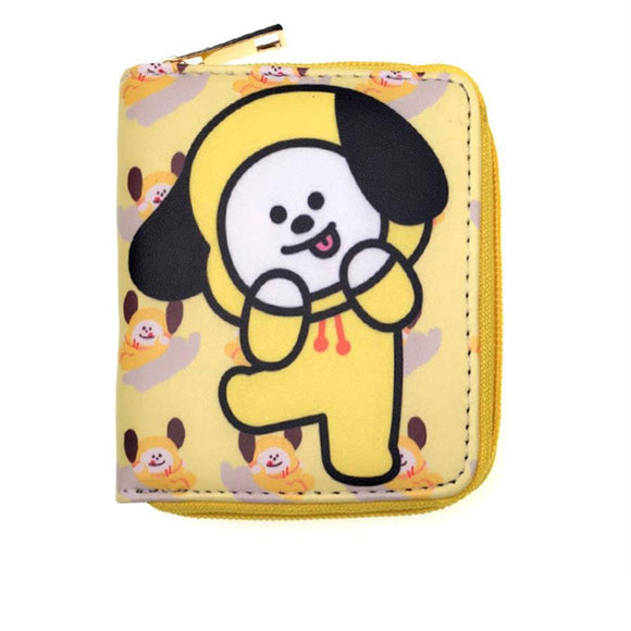 BT21 Bias Character Leather Wallet