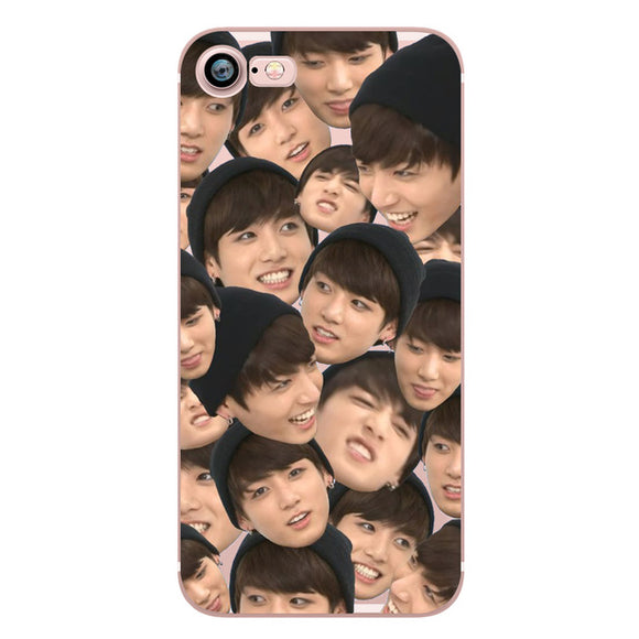 Jungkook Faces iPhone Case