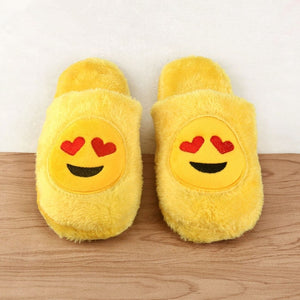 Emoji Fluffy Slippers