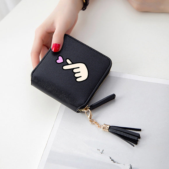 Finger Heart Tassel Purse