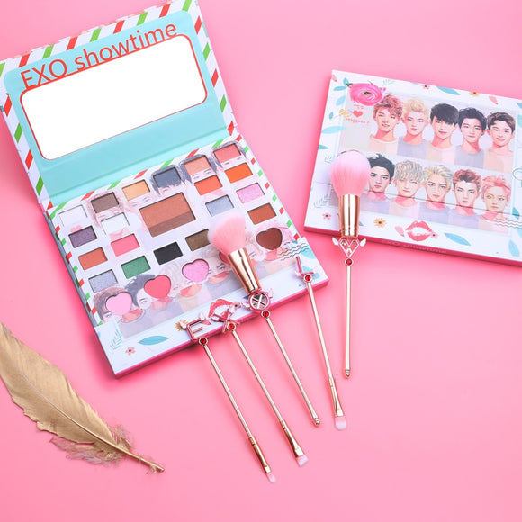 EXO Eye Shadow Pallete and Brush Set
