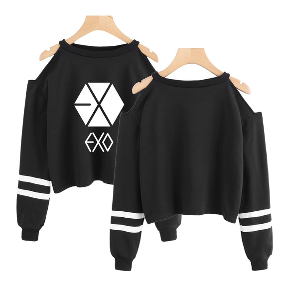 EXO Off-Shoulder Crop Top