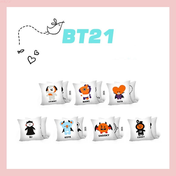 BTS x BT21 Halloween Theme Pillow