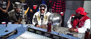 French Montana & Swizz Beats Smoke Out Funkmaster Flex's Studio With Hookah Smoke!