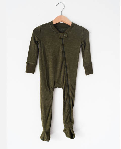 Olive - Footed Pajamas