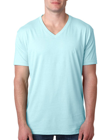 NL6240 Men's CVC V-Neck Tee