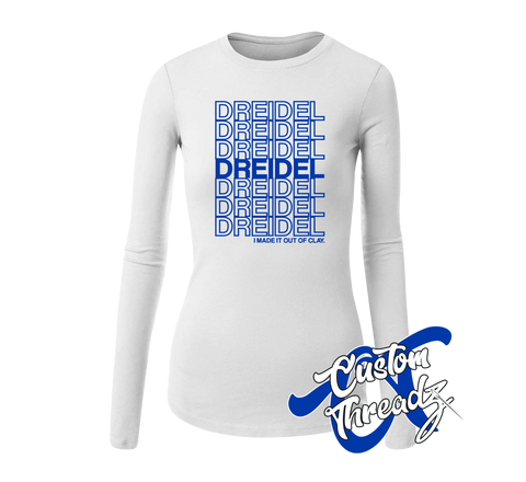 Ladies Dreidel Long Sleeve