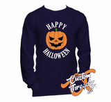 Mens Happy Halloween Long Sleeve