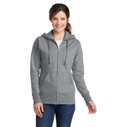 LPC78ZH Ladies Core Fleece Full Zip Hooded Sweatshirt