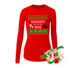 Ladies Naughty or Nice Long Sleeve