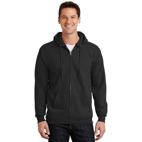 PC90ZHT Tall Essential Fleece Full Zip Hooded Sweatshirt