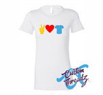 Ladies Peace Love T-Shirts