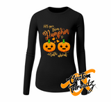 Ladies Pumpkin To Talk About Long Sleeve