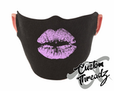 Lavender Lip Print Face Mask