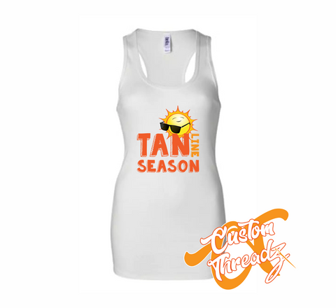 Ladies Tan Line Season Tank Top