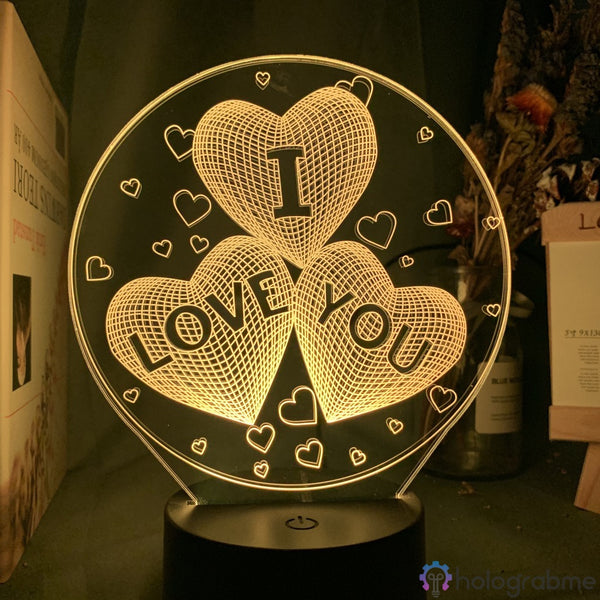 Lampe 3D - I love you | Holograbme