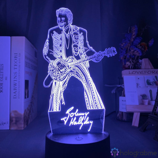 Lampe de Chevet Tactile Johnny Hallyday