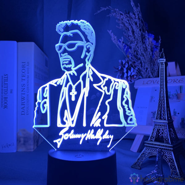 Lampe de Chevet Tactile Johnny Hallyday Jeune