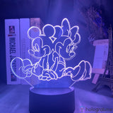 Lampe 3D - Mickey et Minnie | Holograbme
