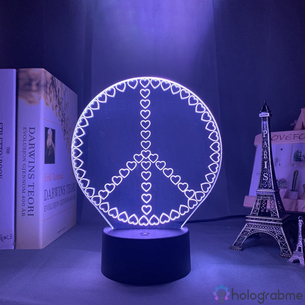 Lampe 3D - Peace and Love | Holograbme