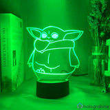 Lampe Star Wars The Mandalorian Yoda