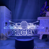 Lampe 3D - World of Tanks Logo | Holograbme