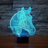Lampe 3D - Cheval-Lampe Hologramme Animal-Holograbme