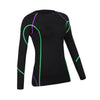 Women Long-sleeved  Compression Quick-Dry Yoga Clothes Fitness Training Dancing and Running Colthes Autumn Winter