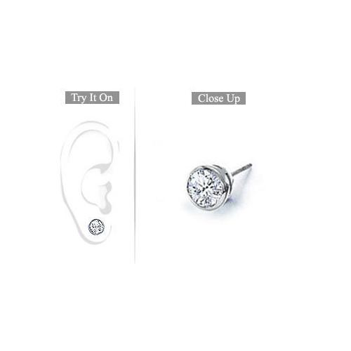 mvs jewelry diamond index earrings bezel studs round stud set brilliant