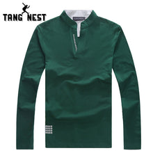 TANGNEST New Arrival 2017 Men's Popular Standing Collar Polo Shirts Business Gentleman Casual Shirts High Quality MTP157