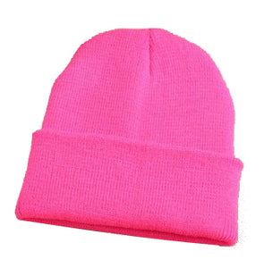 28 Colors Free Shipping Hot Sale 2016 Fashion Knitted Neon Women Beanie Girls Autumn Casual Cap Women's Warm Winter Hats Unisex
