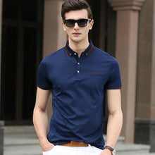 HEE GRAND Men Short Sleeve Polo Shirt 2017 New Turn-Down Collar 100% Cotton Breathable Material Male Polo Shirts MTP434
