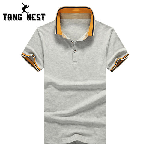 TANGNEST Polo Shirt 2017 Summer Casual Turn-down Collar Polo Plus 6 Colors Big Size Slim Short-sleeve Polo Shirt Men MTP453