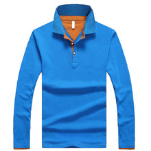TANGNEST 2017 Hot Sale Long-sleeve Polo Shirt Plus 5 Colors Casual Turn-down Collar Polo Good Quality Polo Shirt Men MTP452