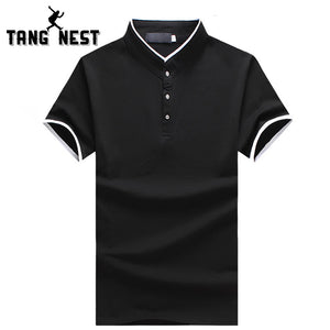 TANGNEST 2017 Hot Sale Business Polo Shirt Plus 5 Colors Slim Short-sleeve Polo Good Quality Polo Shirt Men Size 5XL MTP465